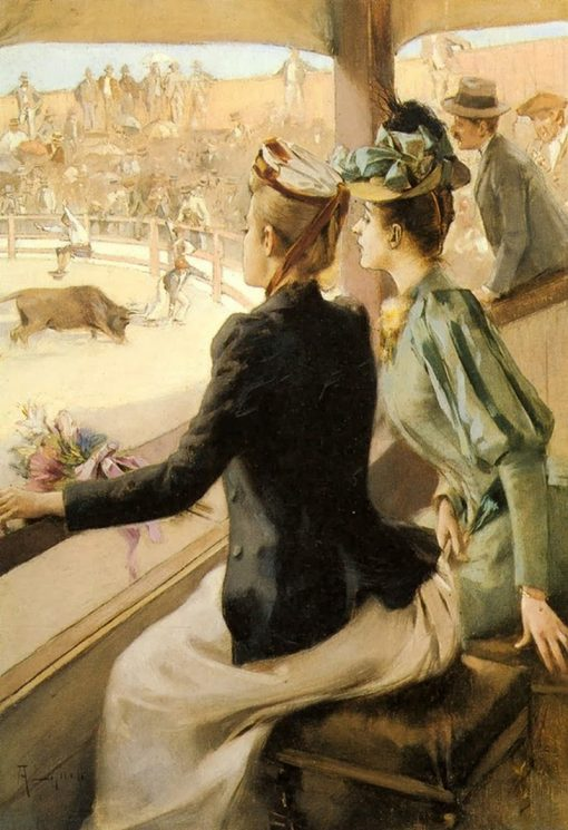 At the Bullfight | Albert Lynch | Oil Painting