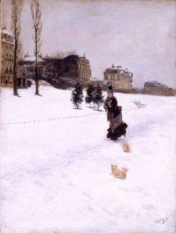 In the Snow | Giuseppe de Nittis | Oil Painting