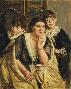 The opera singer Marya Freund and her children | Jacques-Emile Blanche | Oil Painting