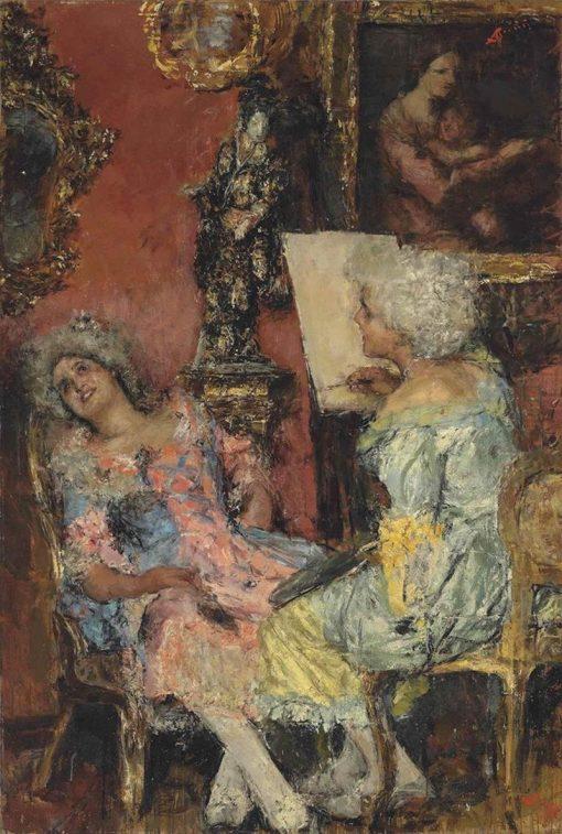 The Painter | Antonio Mancini | Oil Painting