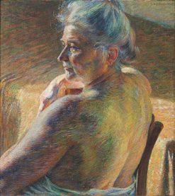 Nudo di spalle | Umberto Boccioni | Oil Painting