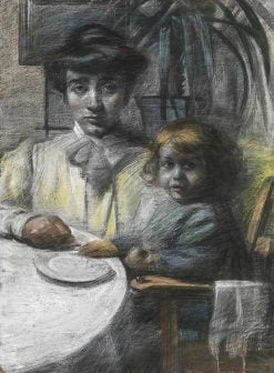 The wife and daughter of Giacomo Balla | Umberto Boccioni | Oil Painting