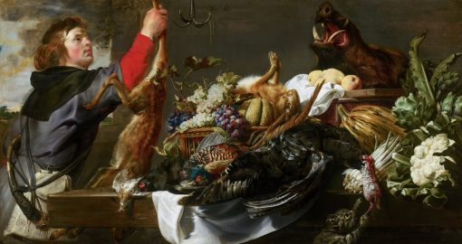 Still Life with Huntsman   Frans Snyders   Oil Painting