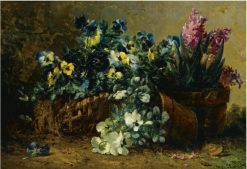 A still life with hyacinths and violets | Eugene Claude | Oil Painting