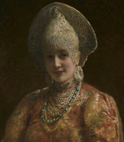 A Young Boyarina | Konstantin Yegorovich Makovsky | Oil Painting