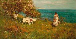 Milk for the Calves   Thomas James Lloyd   Oil Painting