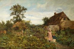 A Country Garden | Thomas James Lloyd | Oil Painting