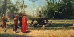 Court Scene | Achille Guerra | Oil Painting