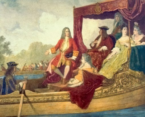 George Frideric Handel with King George I of Great Britain