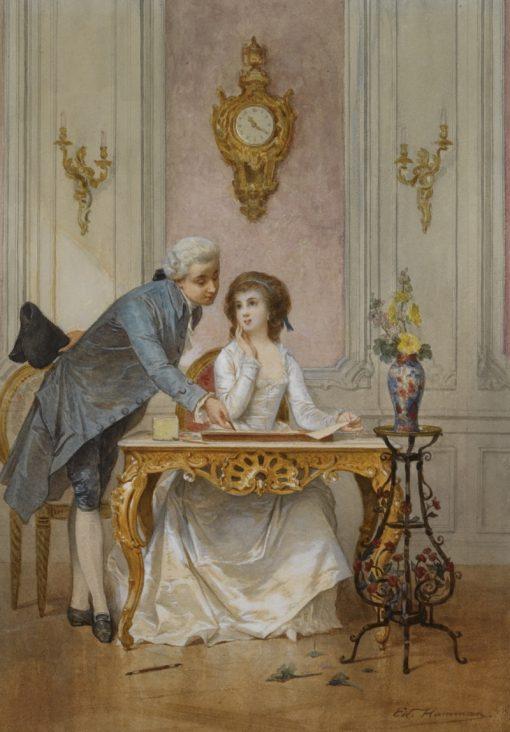 Drawing Class | Edouard Hamman | Oil Painting