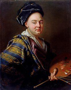 Self Portrait with Turban | Emmanuel Jakob Handmann | Oil Painting