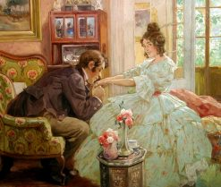 A gallant admirer | Rudolf Alfred Höger | Oil Painting