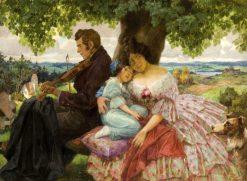 Under the Oak Tree | Rudolf Alfred Höger | Oil Painting
