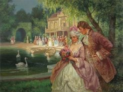 Baroque Genre Scene - Society in the Park | Rudolf Alfred Höger | Oil Painting