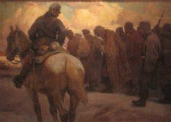 Russian War Prisoners | Rudolf Alfred Höger | Oil Painting