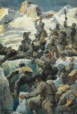 Fight at Cima Presena | Rudolf Alfred Höger | Oil Painting