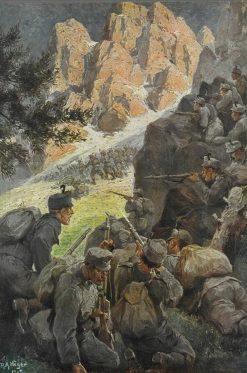 Troops in Combat | Rudolf Alfred Höger | Oil Painting