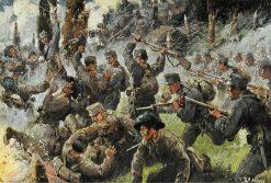 Fight at Doberdo | Rudolf Alfred Höger | Oil Painting