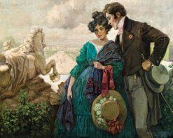Lovers in Schönbrunn | Rudolf Alfred Höger | Oil Painting
