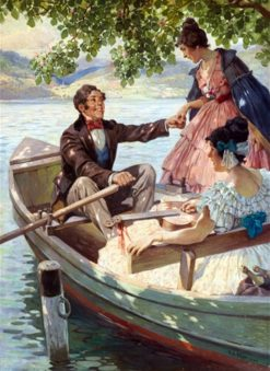 Invitation to the boat trip on the Danube | Rudolf Alfred Höger | Oil Painting