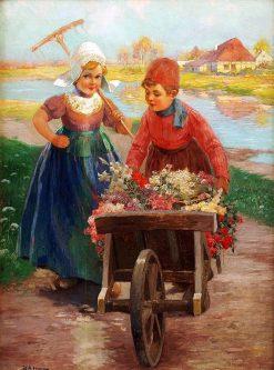 The Flower Sellers | Rudolf Alfred Höger | Oil Painting
