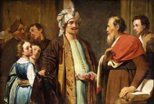 Elijah Refusing Gifts from Naaman | Pieter Fransz. de Grebber | Oil Painting
