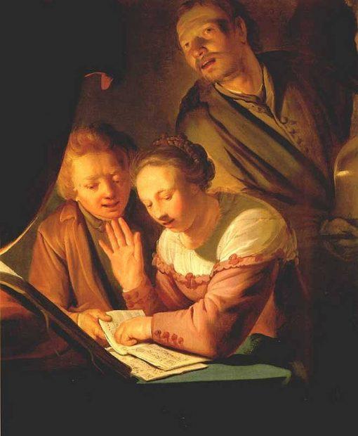 Musical Trio   Pieter Fransz. de Grebber   Oil Painting