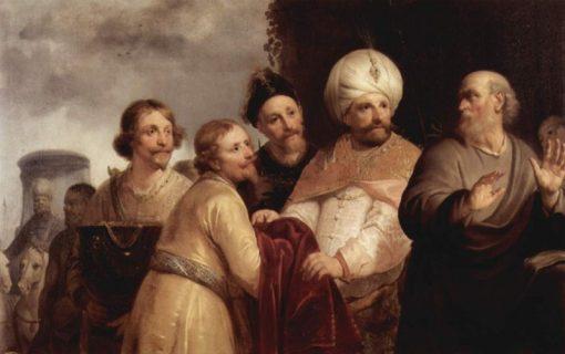 Elijah Refusing Gifts from Naaman   Pieter Fransz. de Grebber   Oil Painting