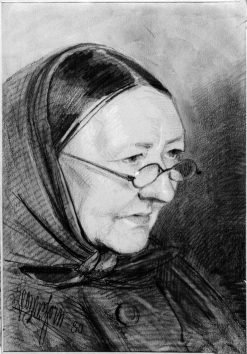 Old Woman with Glasses and Kerchief | Anders Zorn | Oil Painting