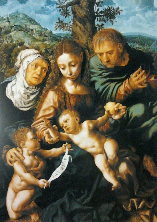 The Holy Family | Jan Sanders van Hemessen | Oil Painting