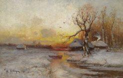 Winter Sunset | Julius Klever | Oil Painting
