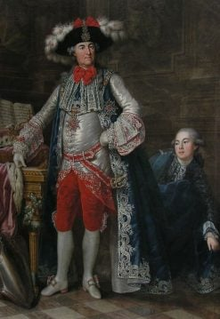 Portrait of Charles Theodore of Bavaria as Grand Master of the Knights of St. George | Karl Anton Hickel | Oil Painting