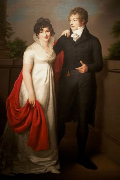 Wedding Portrait of Emilie and Johann Philipp Petersen | Friedrich Carl Groger | Oil Painting