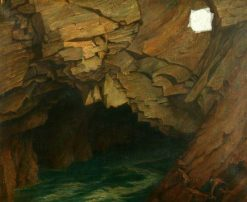 The Wild Seas Engulfing Maw   Frederick James Shields   Oil Painting
