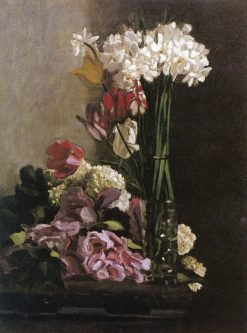 Flowers | Jean Frederic Bazille | Oil Painting