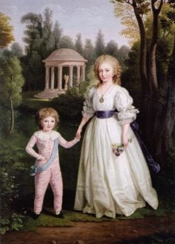 Marie Therese and Louis Charles of France   Ludwig Guttenbrunn   Oil Painting