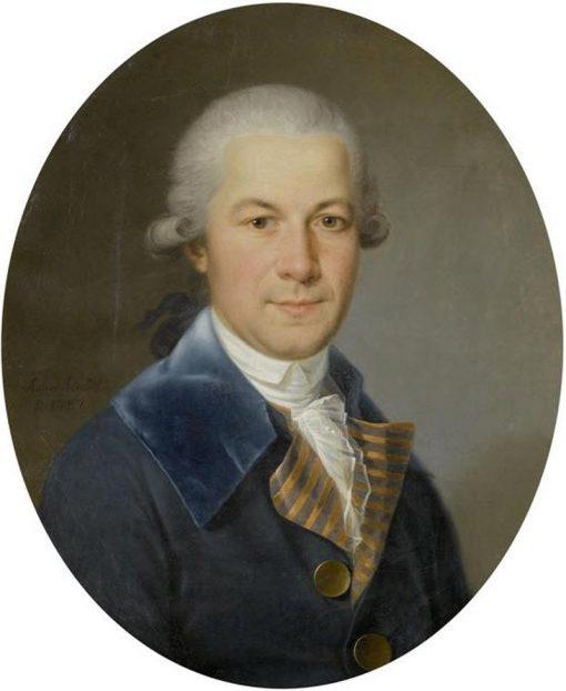 Portrait of Niklaus Bernhard Morell | Karl Anton Hickel | Oil Painting