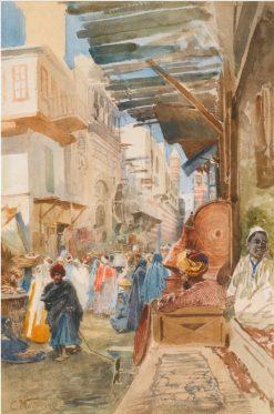Street in Cairo | Konstantin Yegorovich Makovsky | Oil Painting