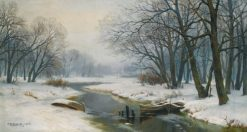 Winter Landscape | Ivan Weltz | Oil Painting