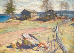Village in the North | Abram Efimovich Arkhipov | Oil Painting