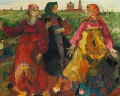 Three Women | Filipp Andreevich Maliavin | Oil Painting