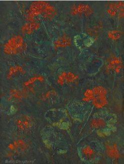 Geraniums | Boris Grigoriev | Oil Painting