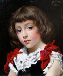 Portrait of a Girl | Auguste Hirsch | Oil Painting