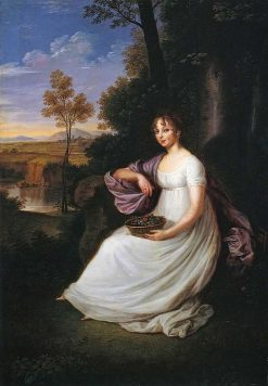 Portrait of Bibikova   Ludwig Guttenbrunn   Oil Painting