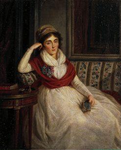 Portrait of Princess Golenishcheva-Kutuzova   Ludwig Guttenbrunn   Oil Painting