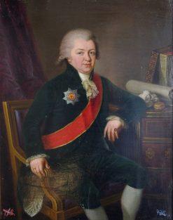 Stepan Kurakin   Ludwig Guttenbrunn   Oil Painting