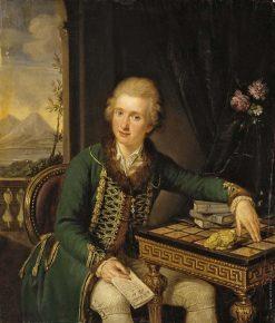 Portrait of Count Michael Johann von der Borch   Ludwig Guttenbrunn   Oil Painting