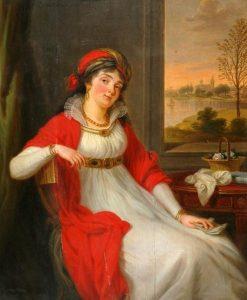 Duchess Anna de Serra-Capriola   Ludwig Guttenbrunn   Oil Painting