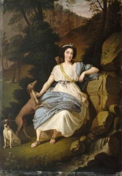 The Countess of Provence as Diane | Ludwig Guttenbrunn | Oil Painting