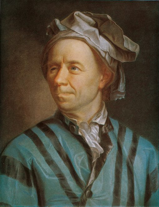 Portrait of Leonhard Euler   Emmanuel Jakob Handmann   Oil Painting